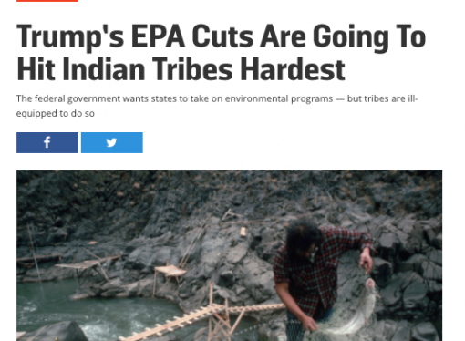 News reports of EPA cuts and tribes continues to miss the point