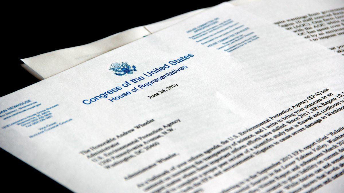 EPA Correspondence stock pic