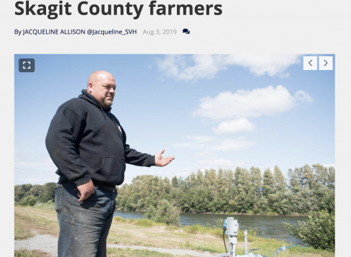 Farm leader Jason VanderKooy explains irrigation water cut off on Skagit River